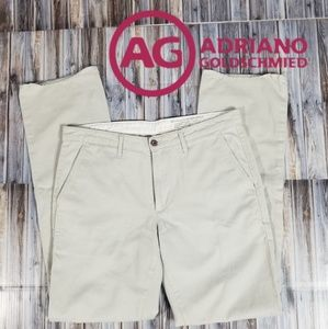AG Adriano Goldschmied Mens 33x34 Light Khaki Pant